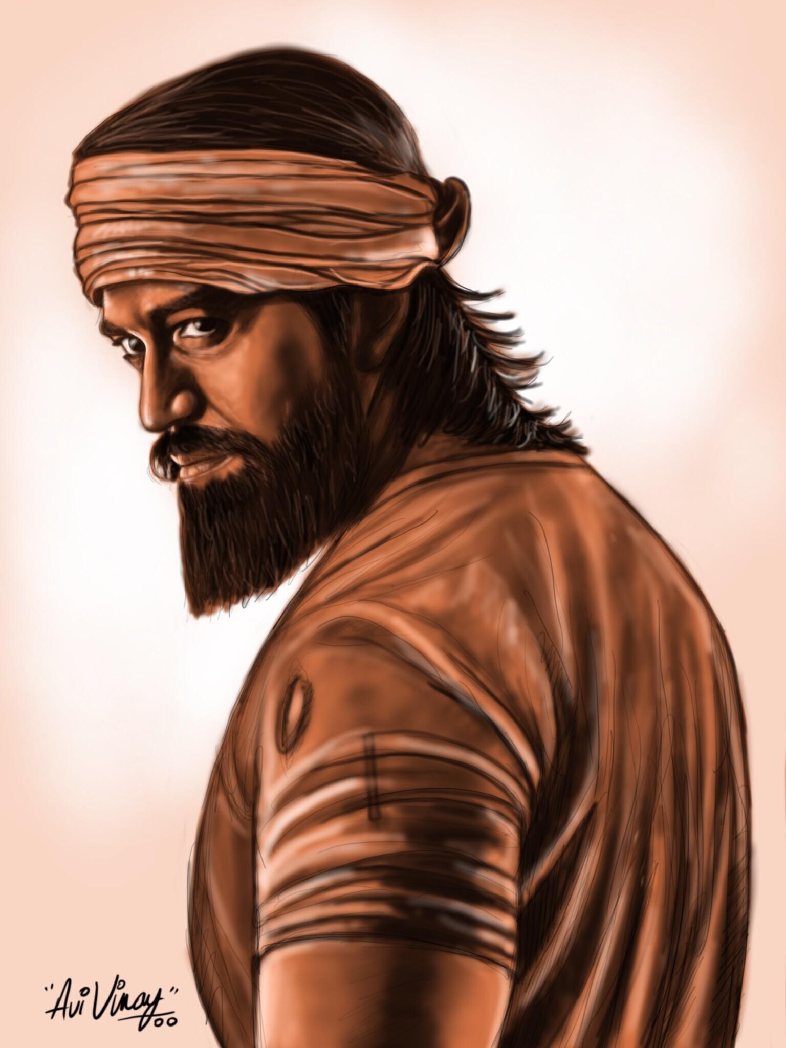 Kgf Yash Drawing Images