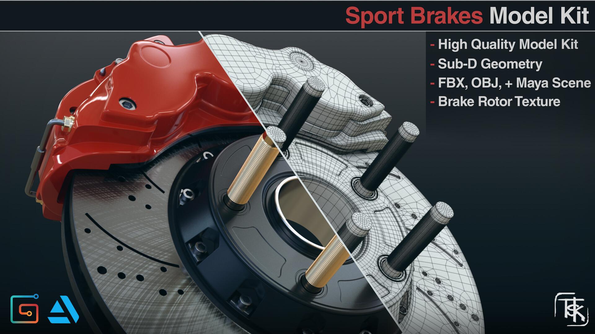ArtStation - Sport Disc Brake Model Kit , Alex Tsekot