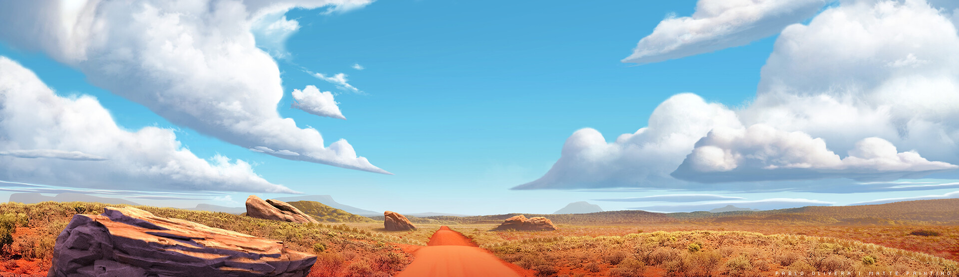 Pablo olivera lil dicky earth outback mattepainting