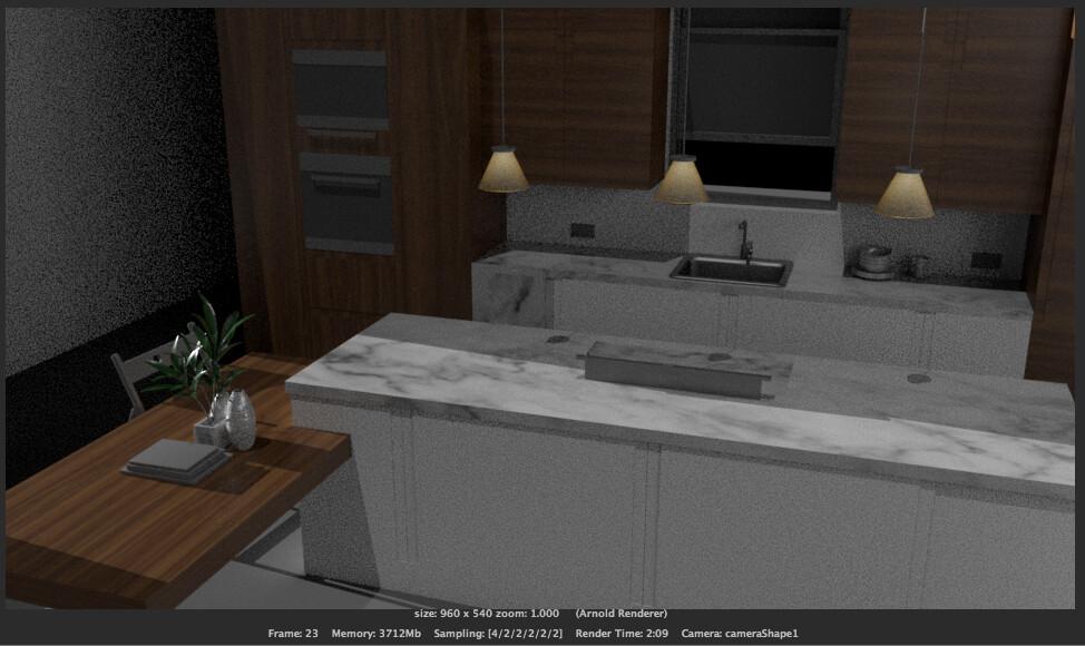 ArtStation - Kitchen Lighting (Part 1  Work in progress