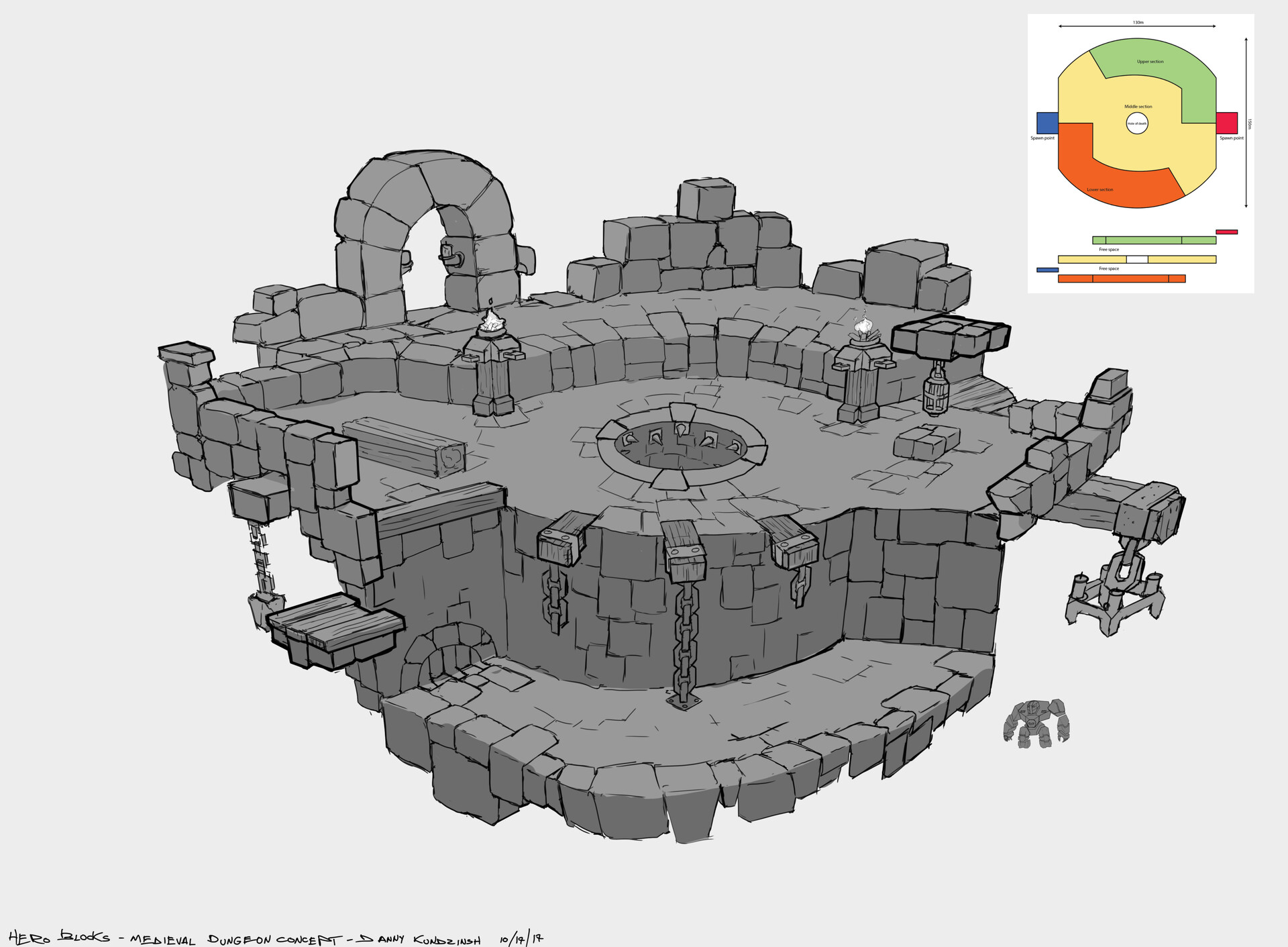Danny kundzinsh hero blocks medieval dungeon map concept