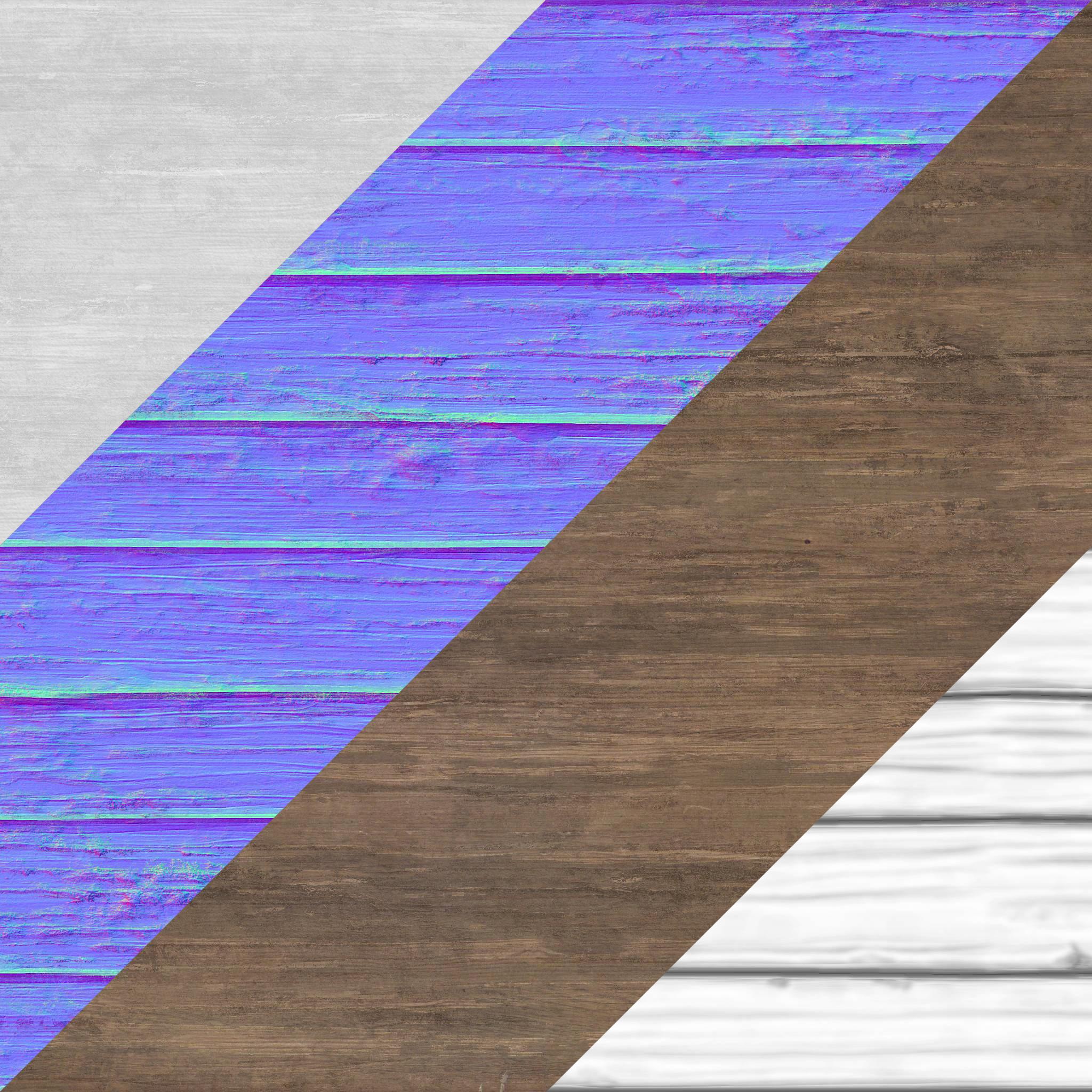 Wood planks texture set