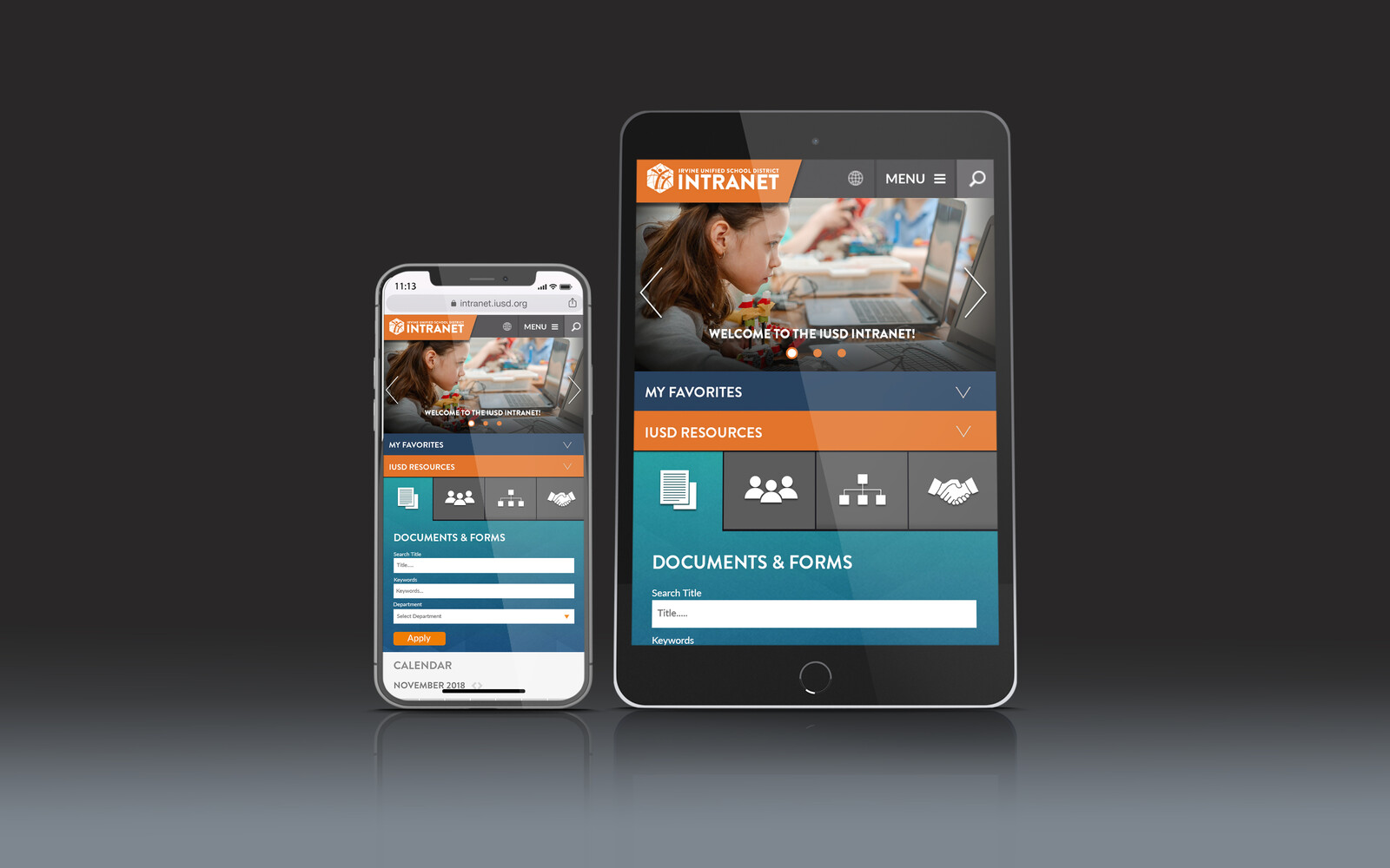IUSD Intranet Refresh - Mobile