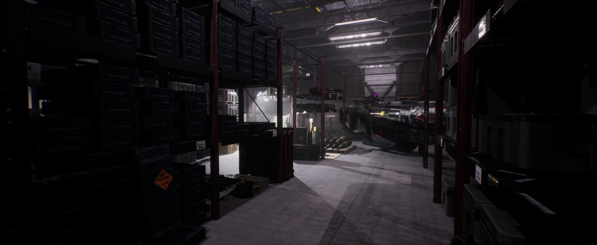 ArtStation - Titan Armoury Environment, Scott Colverson