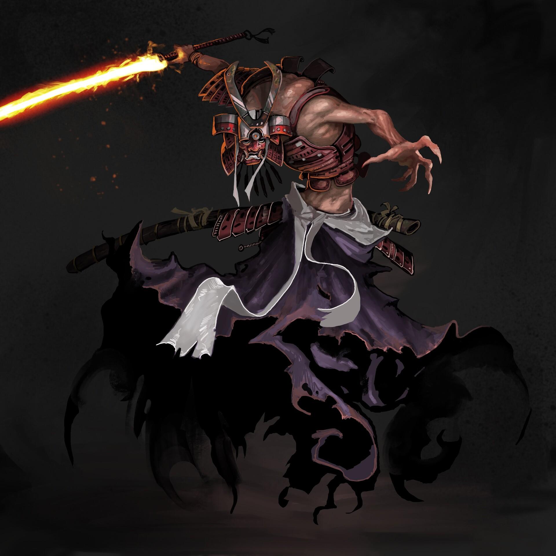 Artstation Dark Samurai Todd Ulrich