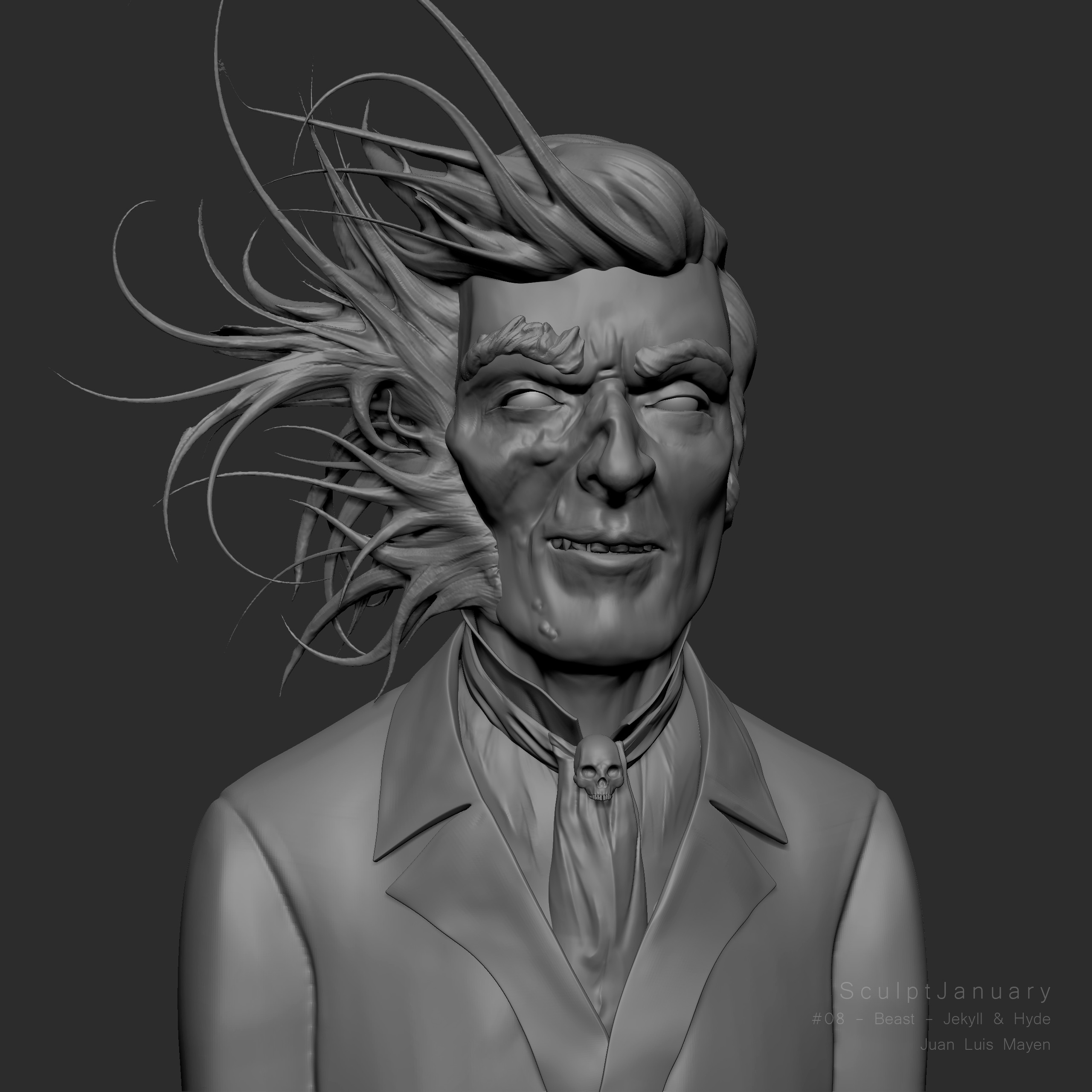 08 - Beast - Jekyll & Hyde (Zbrush screenshot)