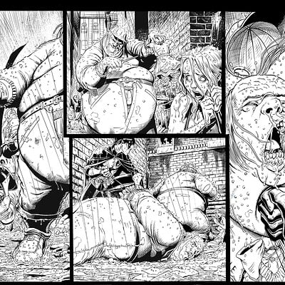 Unreleased Batman Sample Pages 2-3