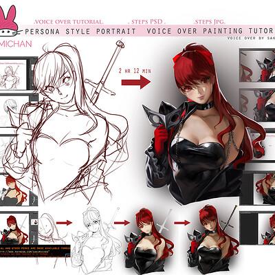 Sakimi chan persona5 portrait tutorial promo