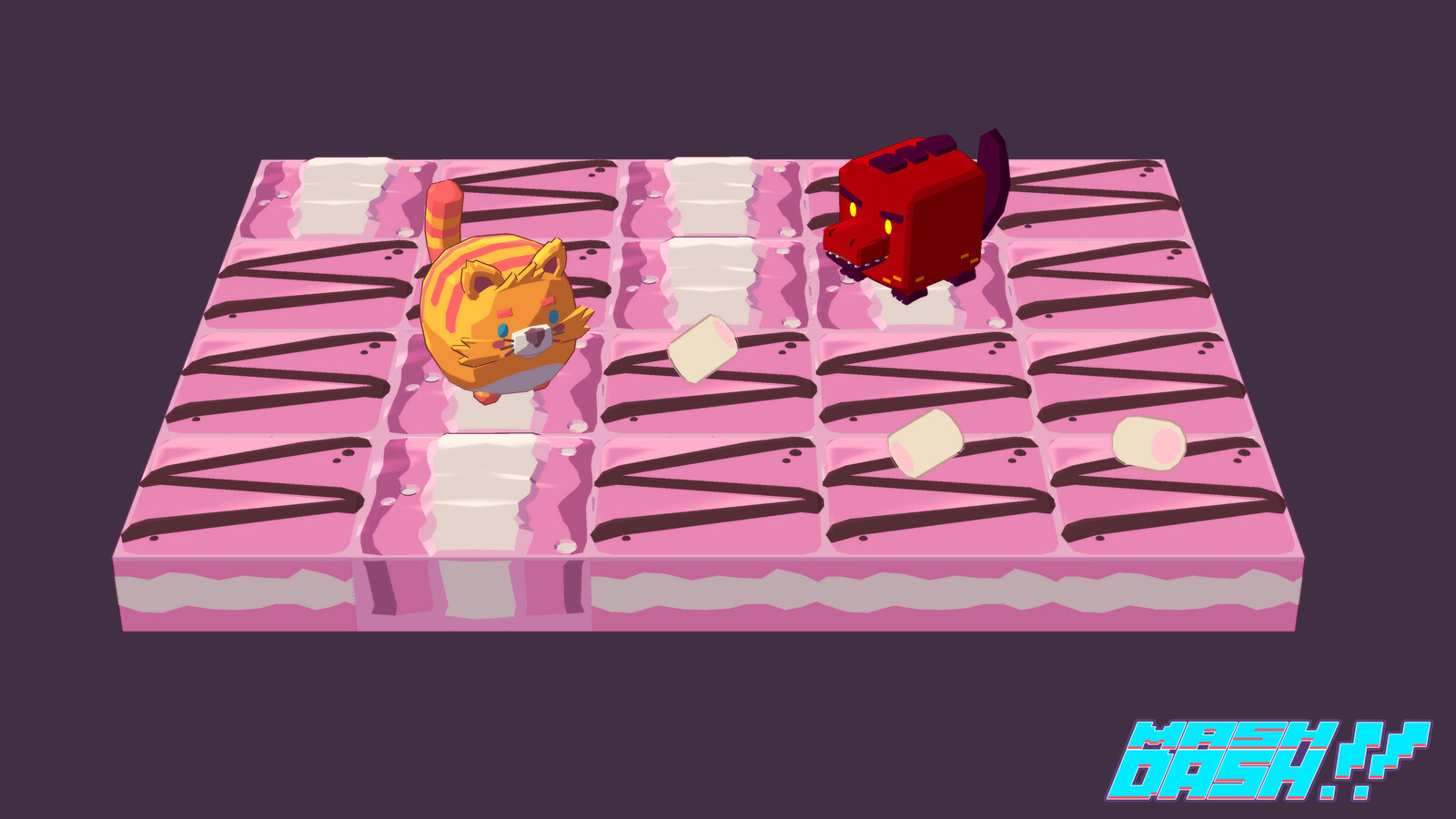 Character specific themes, procedurally generated levels, dangerous obstacles and even more dangerous enemies!