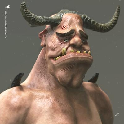 Surajit sen sx ogre cg character by surajitsen april2019