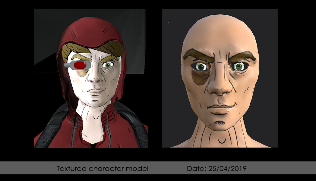Textured character model