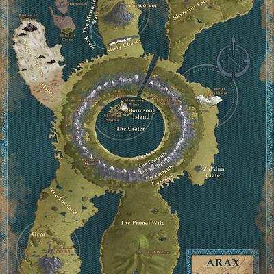 Robert altbauer arax fantasy map