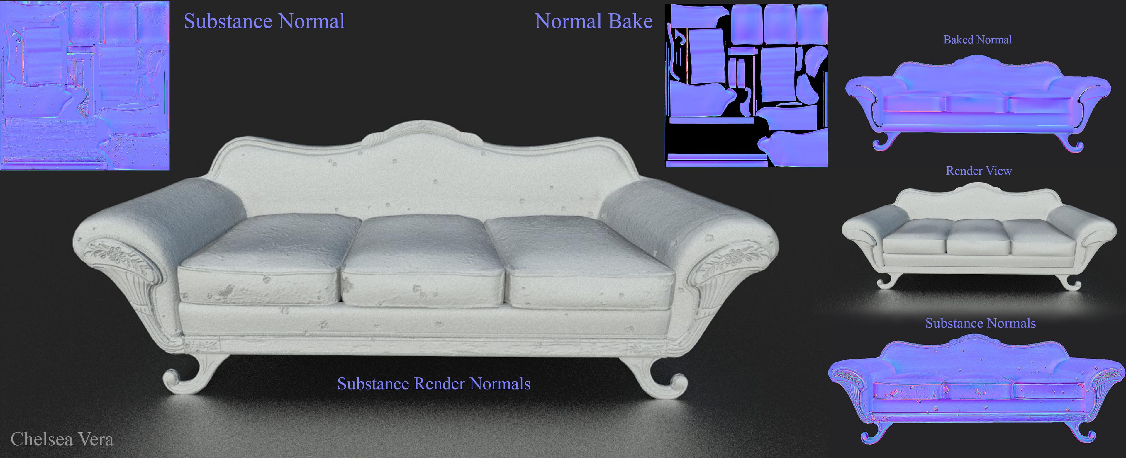 Normals Bake for wear n tear/ Clean pass