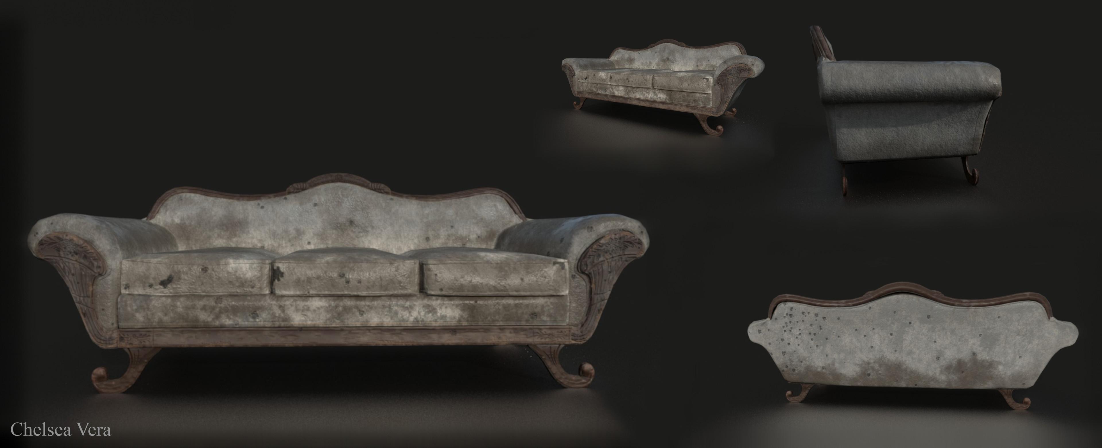 Couch wear n tear in a battlefield
