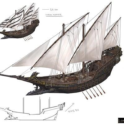 Hwanggyu kim pirate ship001