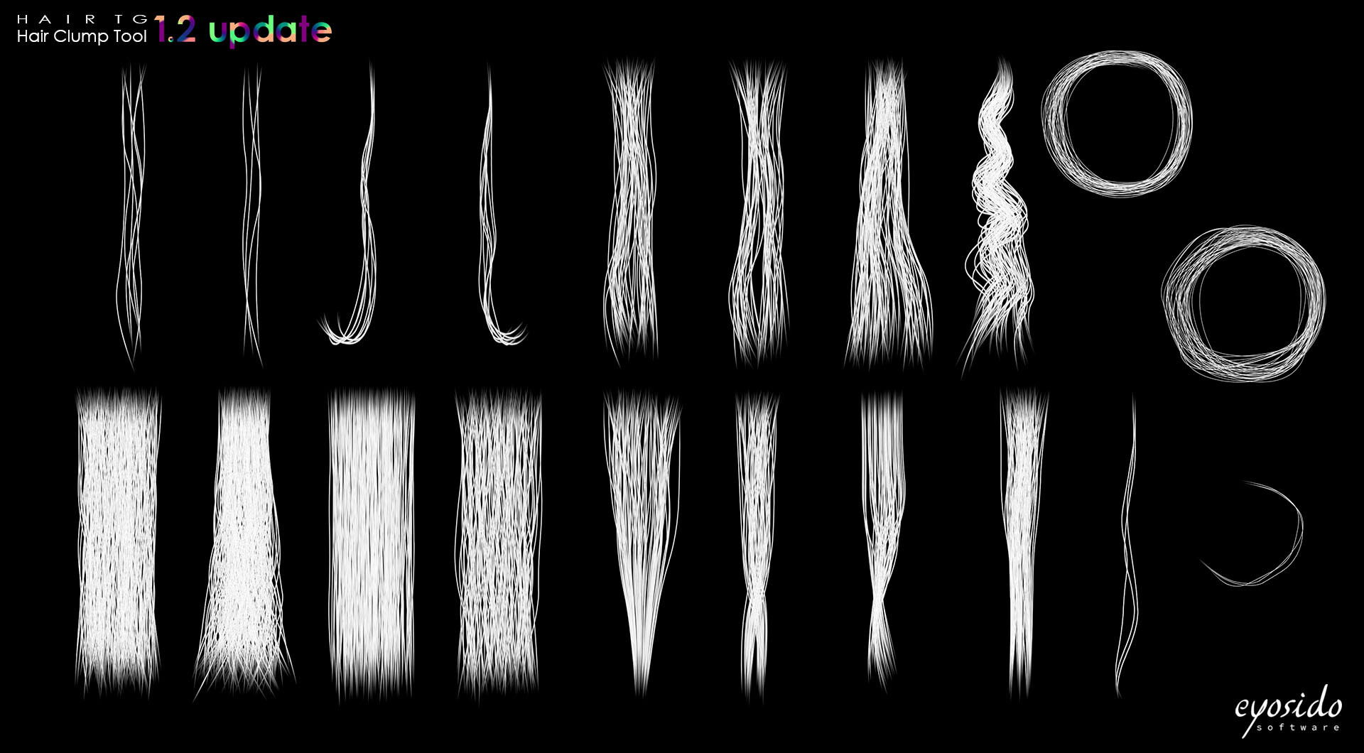 HairTG - Tiler, tile up to 40 hair clumps to generate a final texture.