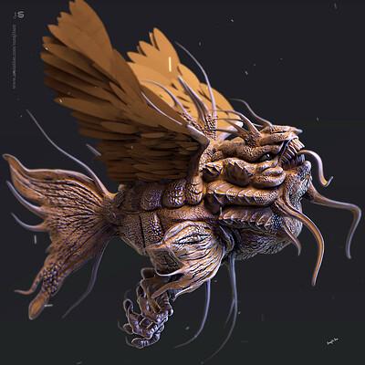 Surajit sen flying dracon1 digital sculpting surajitsen may2019