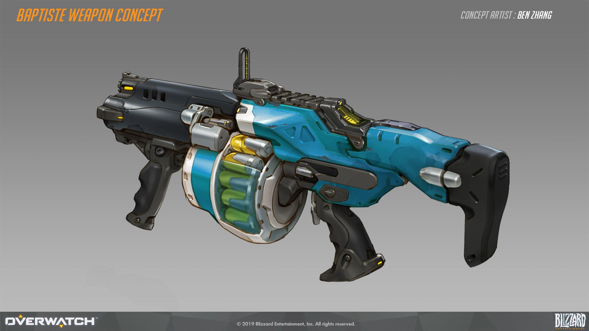 Ben zhang baptiste weapon concept