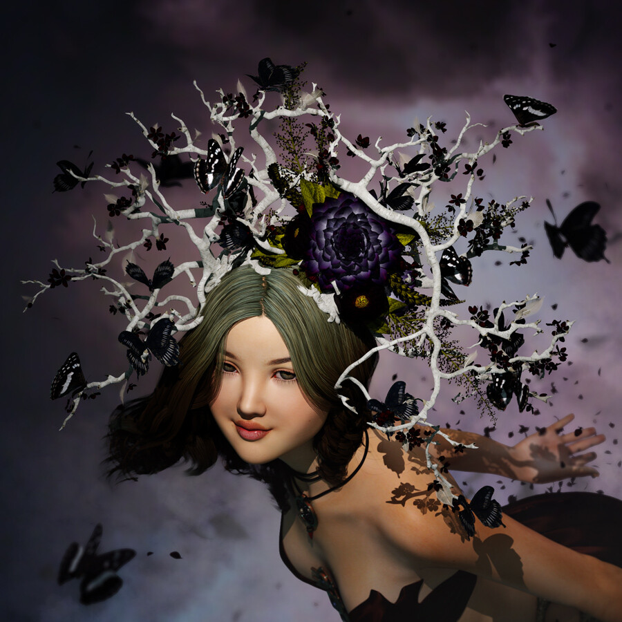(All other models than the crown were licensed from other artists and used here for composition purposes only.  Renders were made in DAZ Studio.)