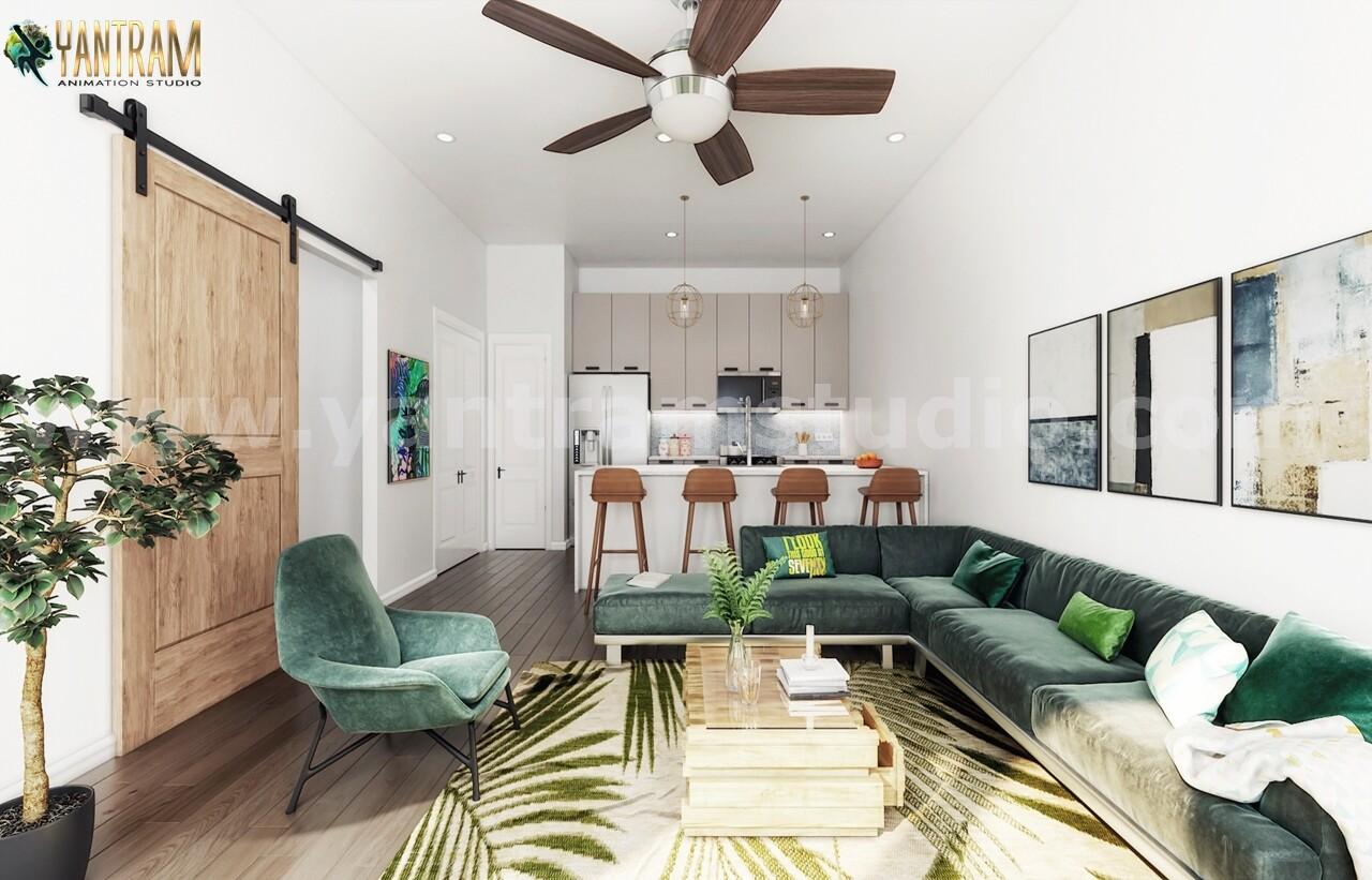 Artstation Modern Interior Design For Kitchen Living Room 3d Modeling Firm By Architectural Studio Rome Italy Yantram Architectural Design Studio