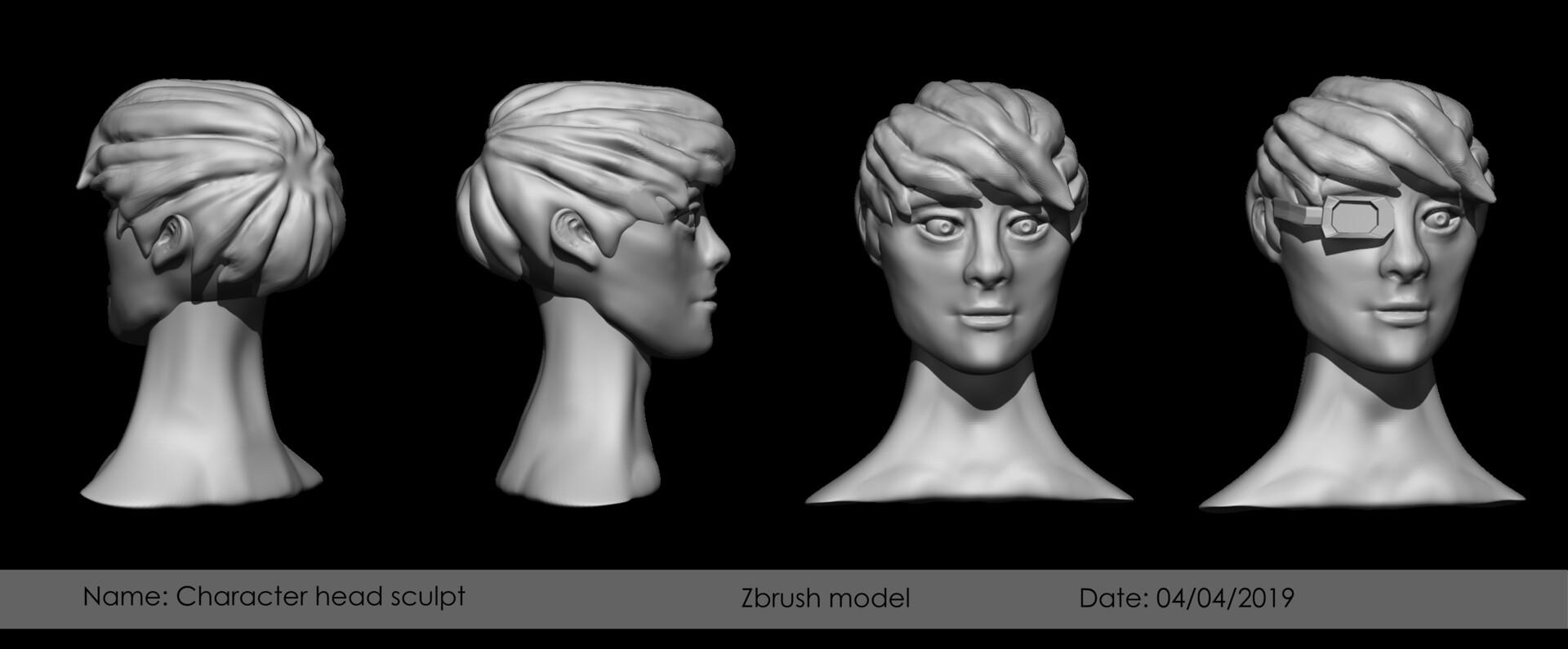 Head sculpt turn around zbrush sculpt