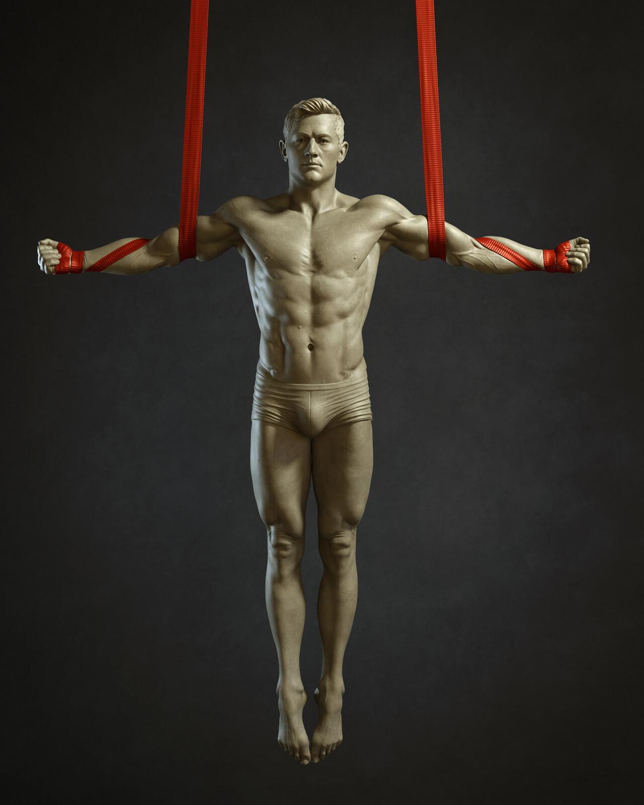 Male Straps 5 - Bodies in Motion (Anatomy Study)