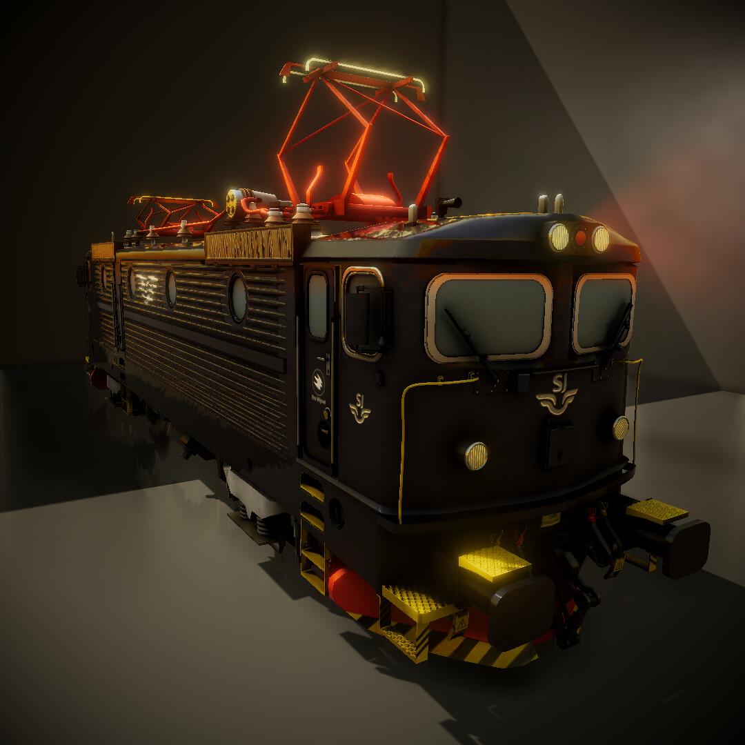 ArtStation - Swedish SJ RC6 Locomotive, Jonathan Stanford