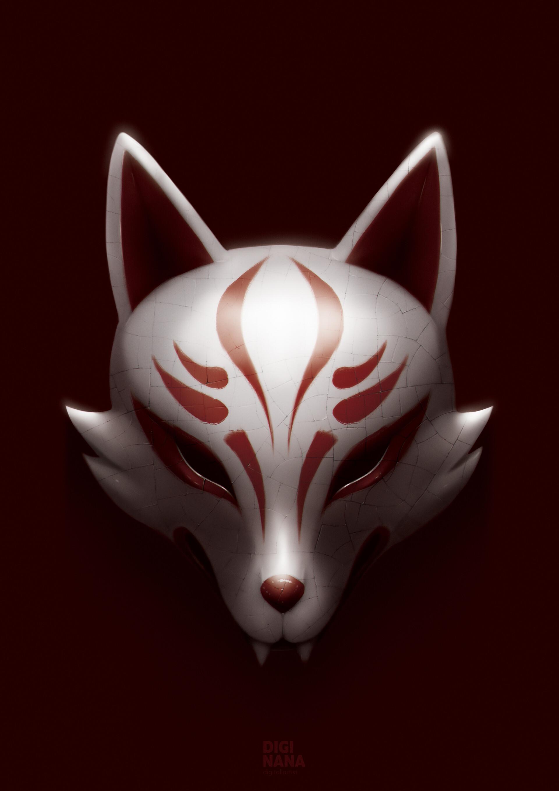 Digi nana kitsune mask