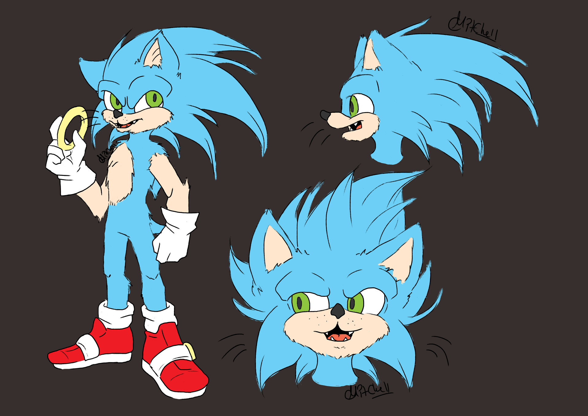 Artstation Sonic Redesign Cerys Mitchell