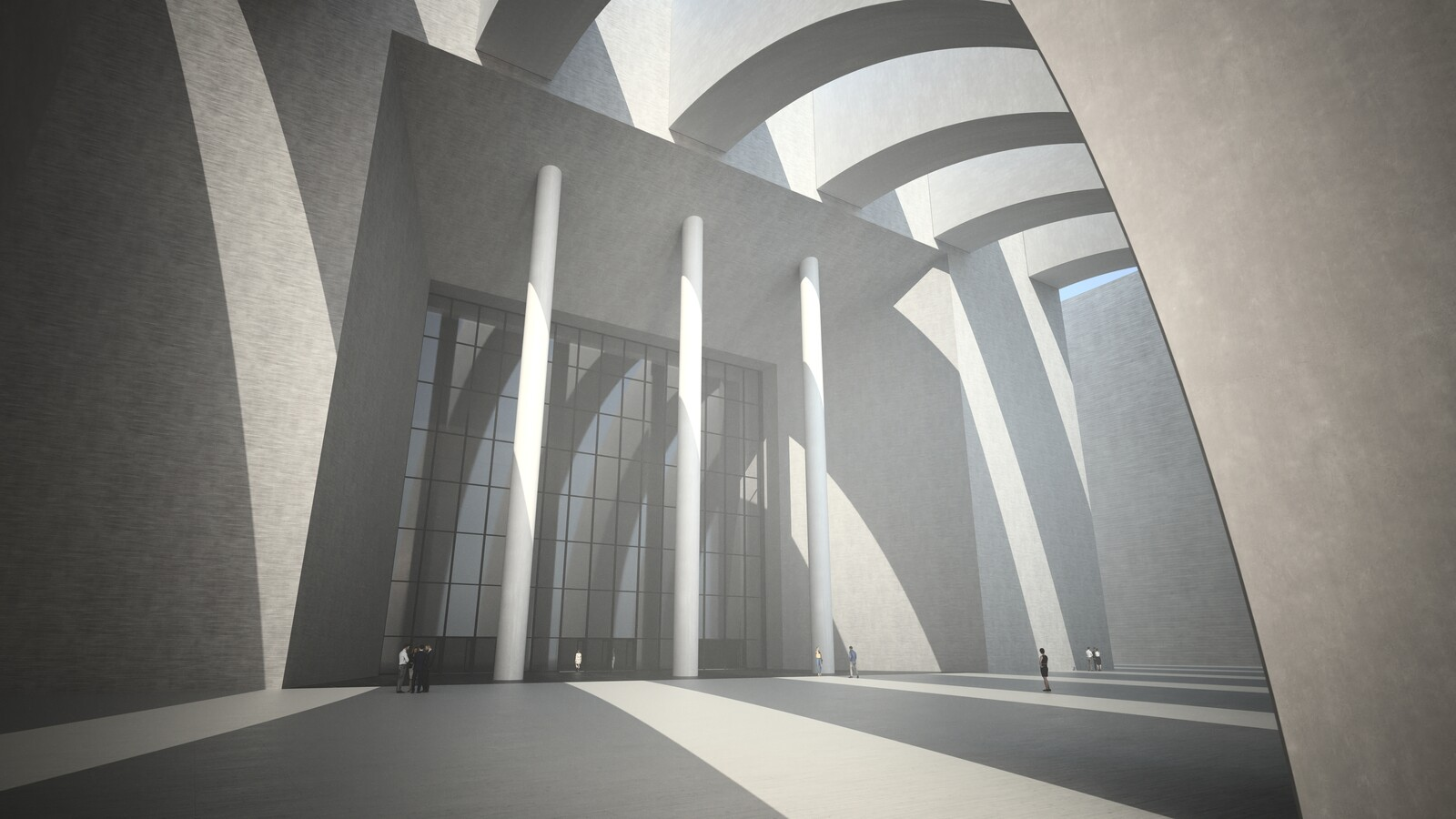 SketchUp 2019 + Thea Render  Large Hall Main Entry_SU8 2018-Scene 7 B Emitter 3840x2160 43m48s 1024 sp 01 D Optura981114crf
