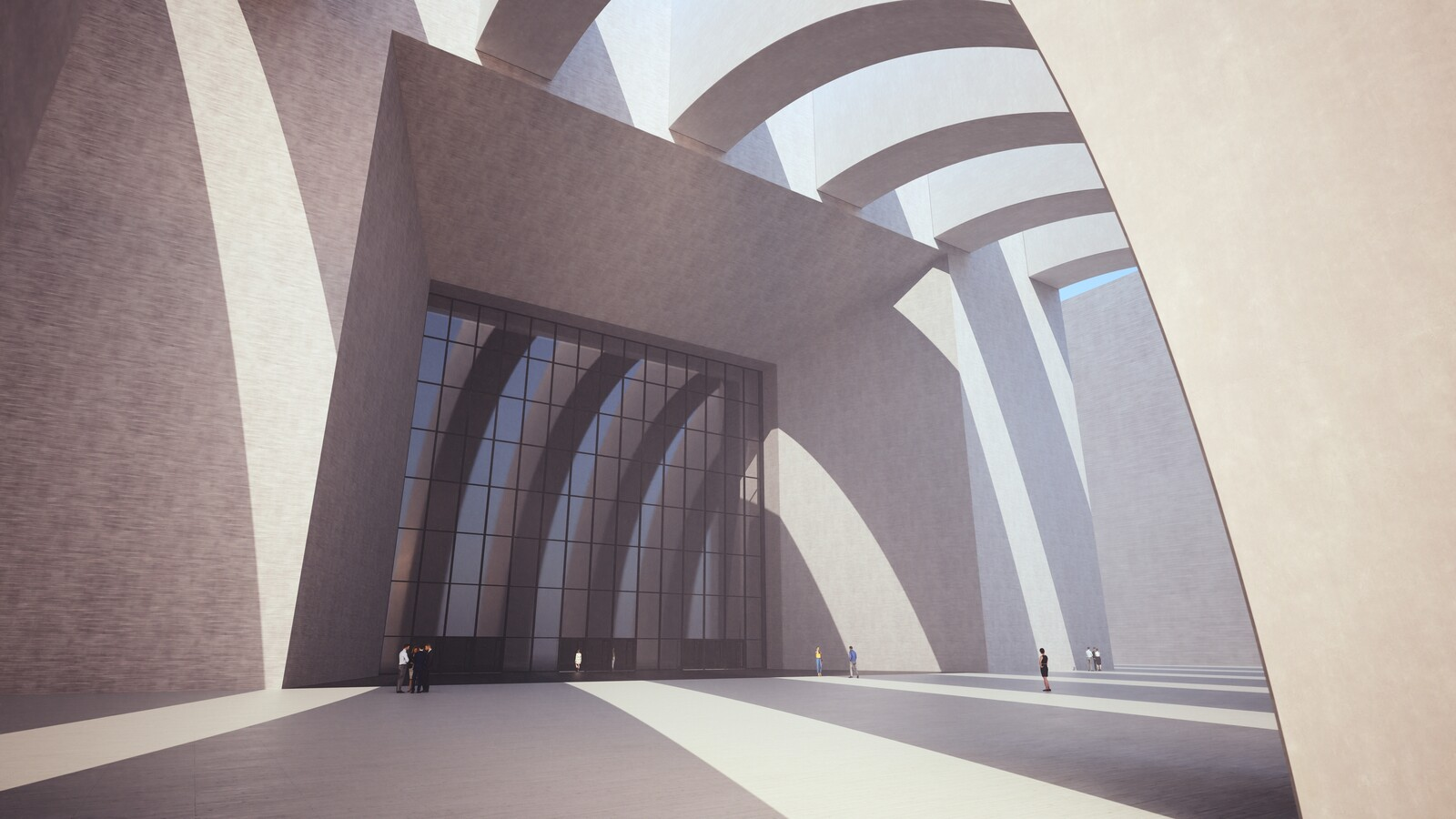 SketchUp 2019 + Thea Render  Large Hall Main Entry_SU8 2018-Scene 7 no pillars Emitter 3840x2160 43m48s 1024 sp 02
