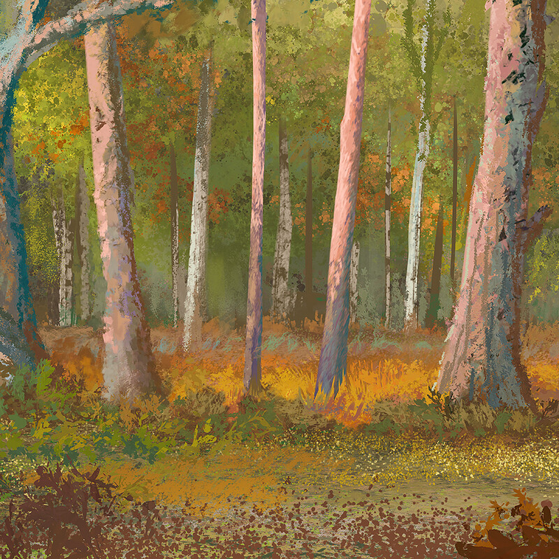 In the Forest - A digital plein air painting