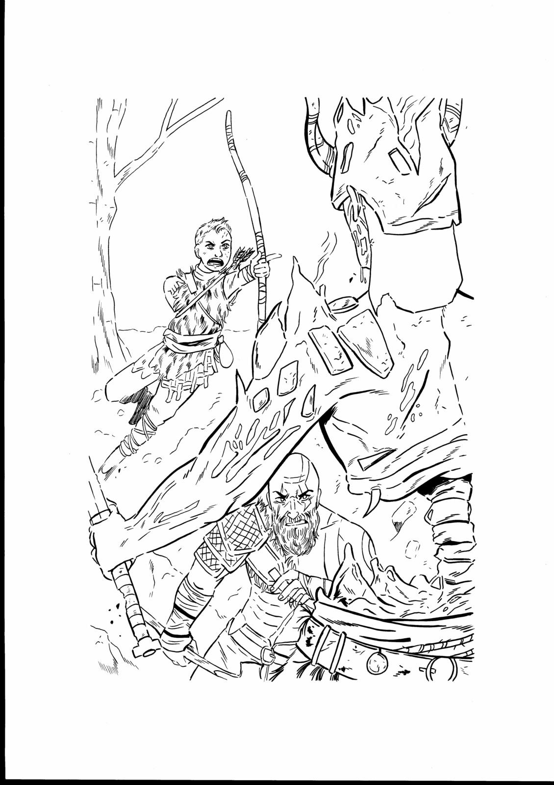 Original Scanned Lineart (Sketch)