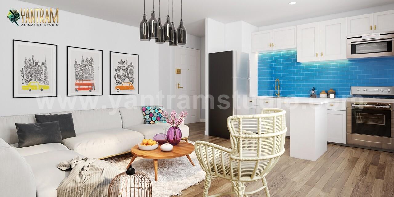 Interior Design Studio Amsterdam artstation - modern exterior & interior apartment building