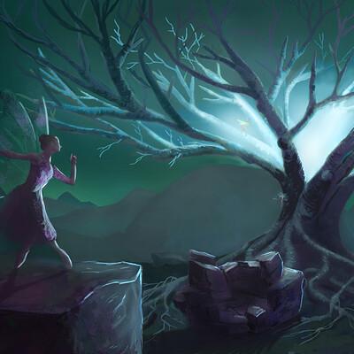 Nienke zijlstra nienkezijlstra painting tree magical small