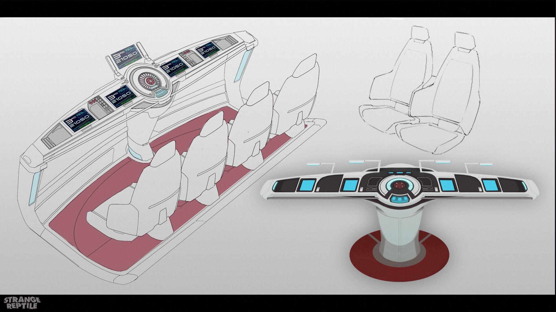 Interior console designs