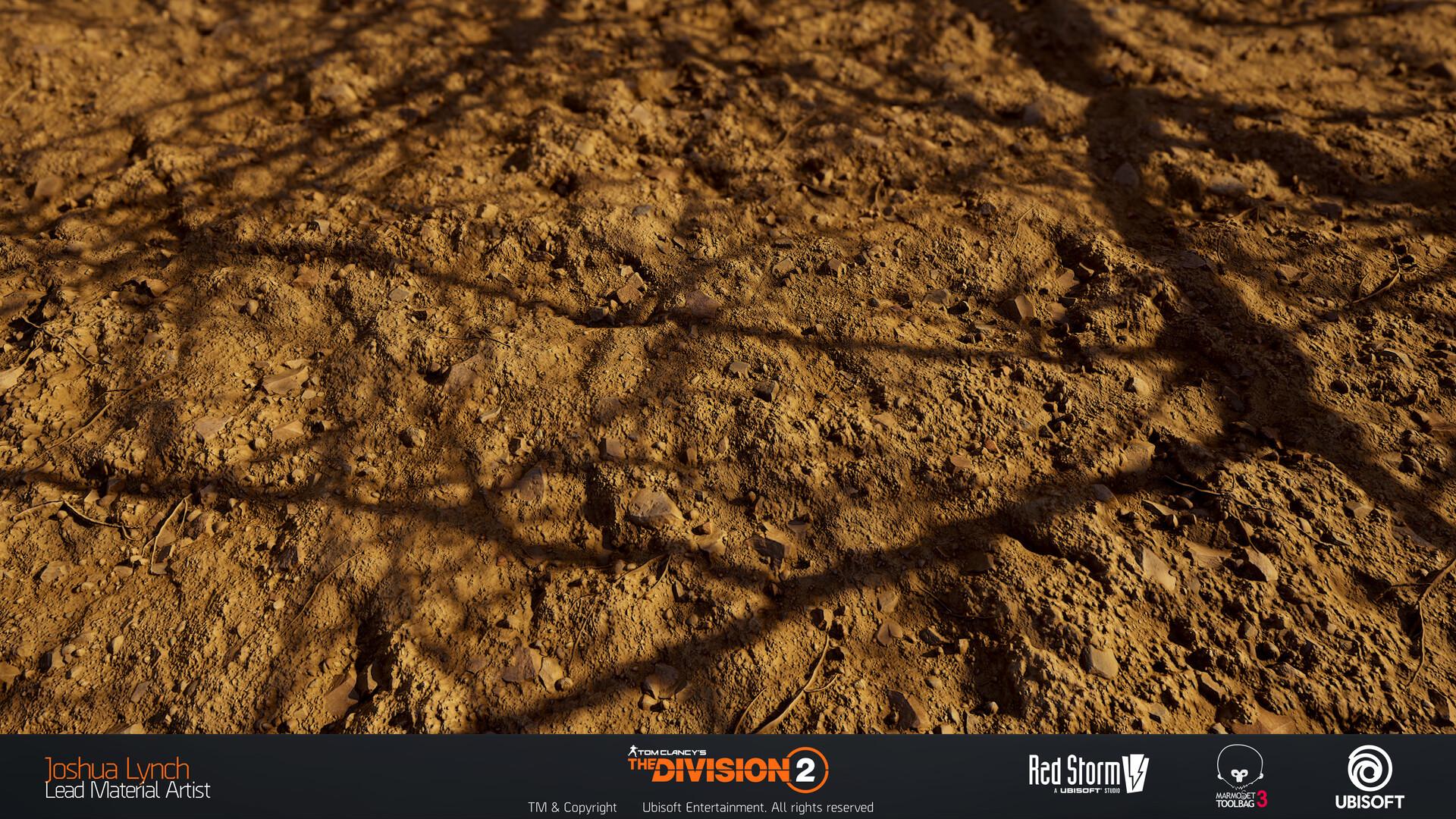 Joshua lynch division 2 josh lynch soil mud dry ground