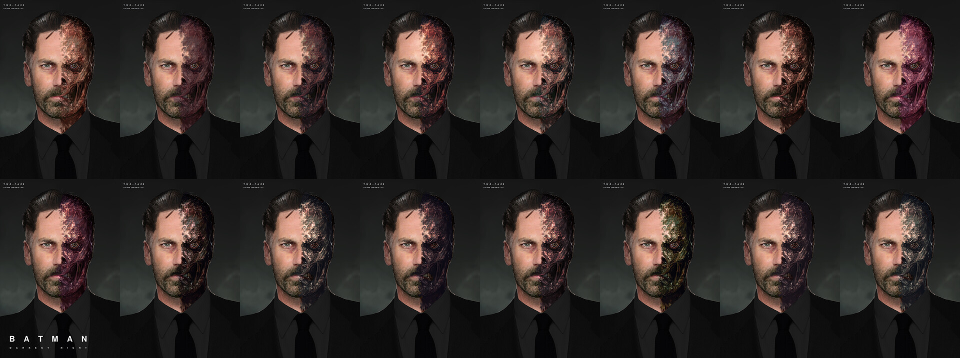 David paget two face colour tests