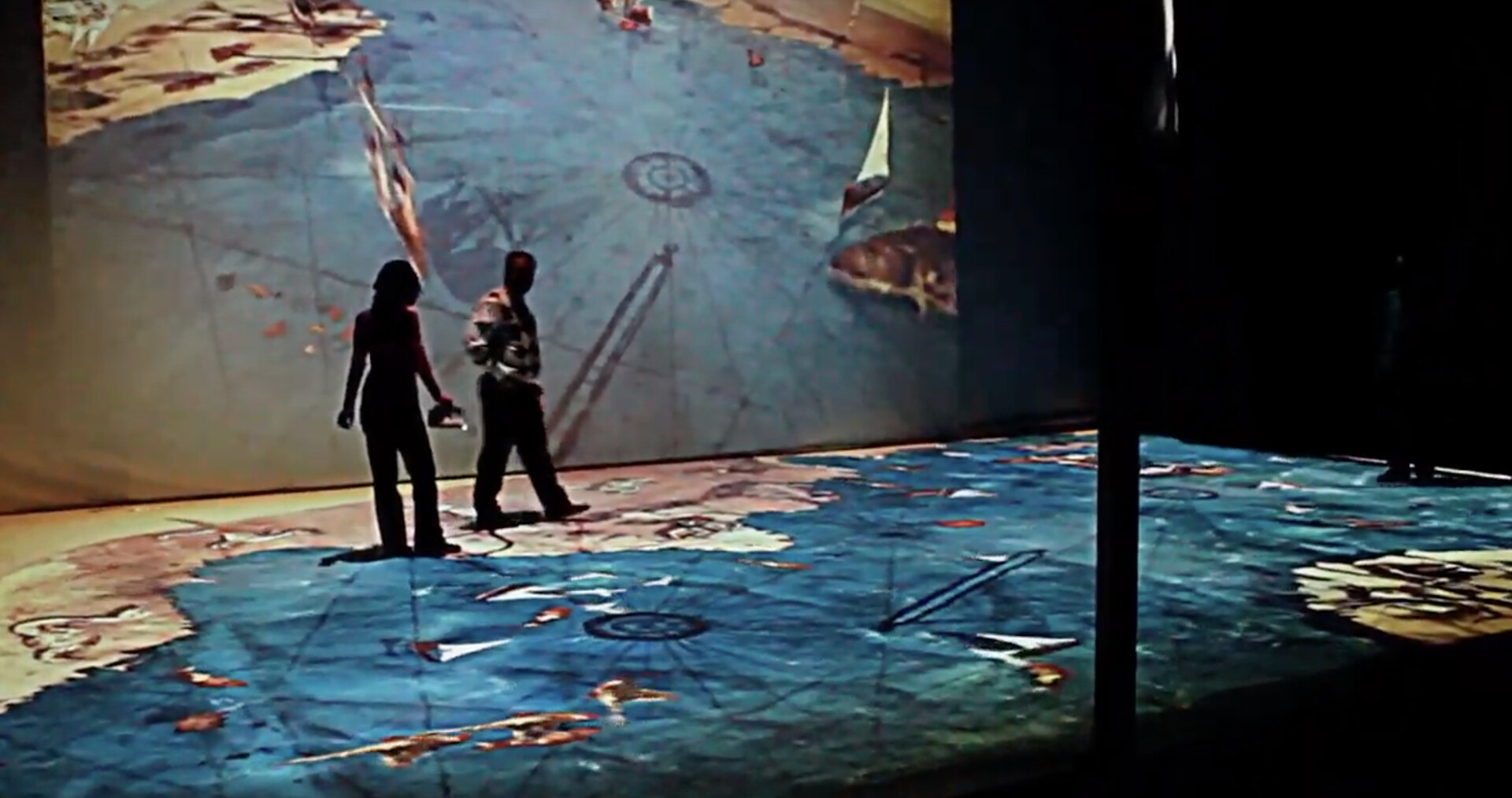 Piri Reis and His Maps Exhibition at Beşiktaş Naval Museum 2013, 80 m² Interactive Projection installation