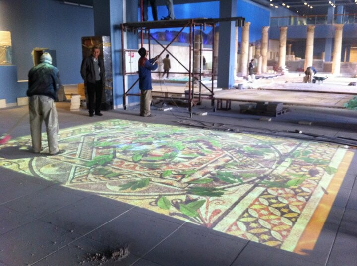 Installation of Interactive Roman Pool