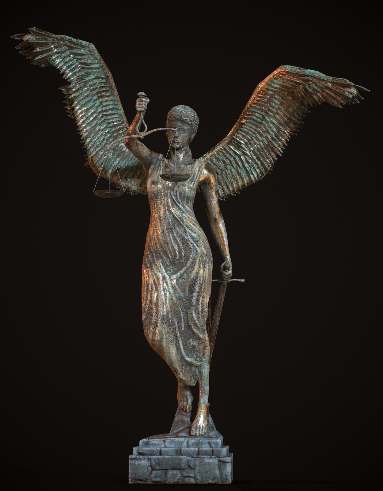 Angel of Justice - Blender timelapse video