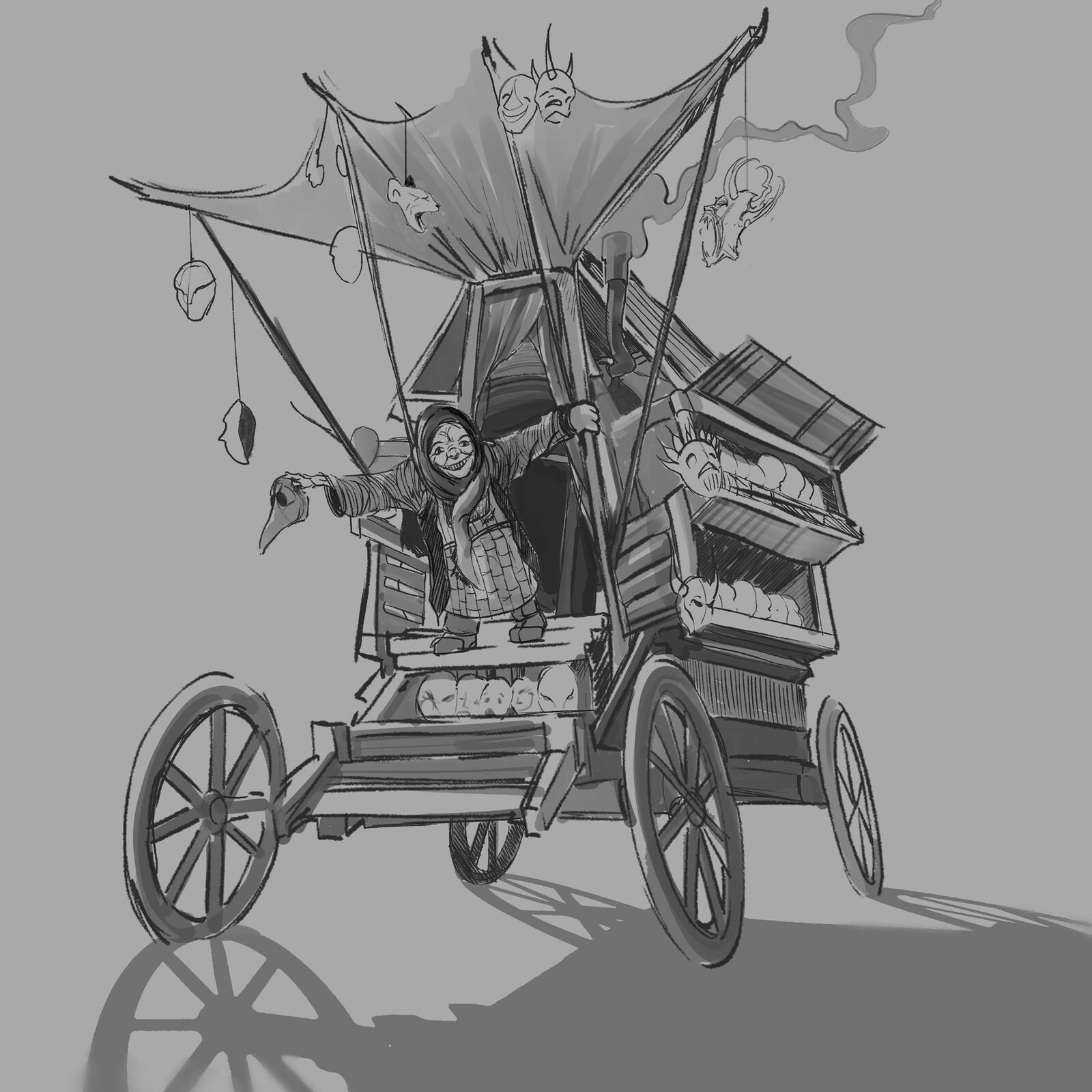 Mask Peddler sketch 2