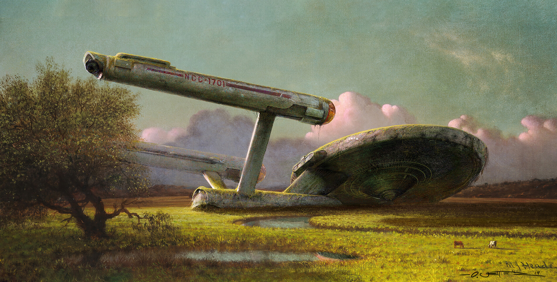 Forgotten NCC-1701 at the Meadow - after M.J. Heade