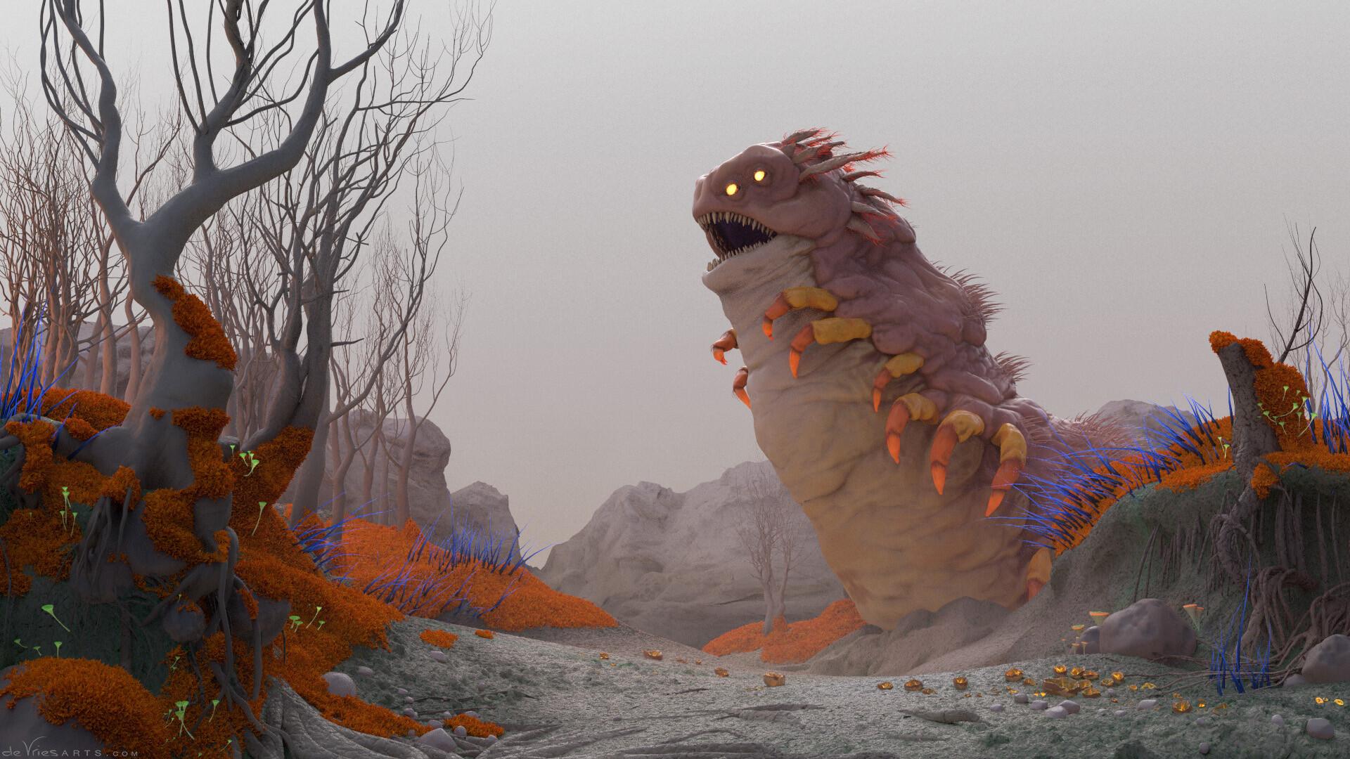 Thijs de vries 05b worm thijsdevries devriesarts