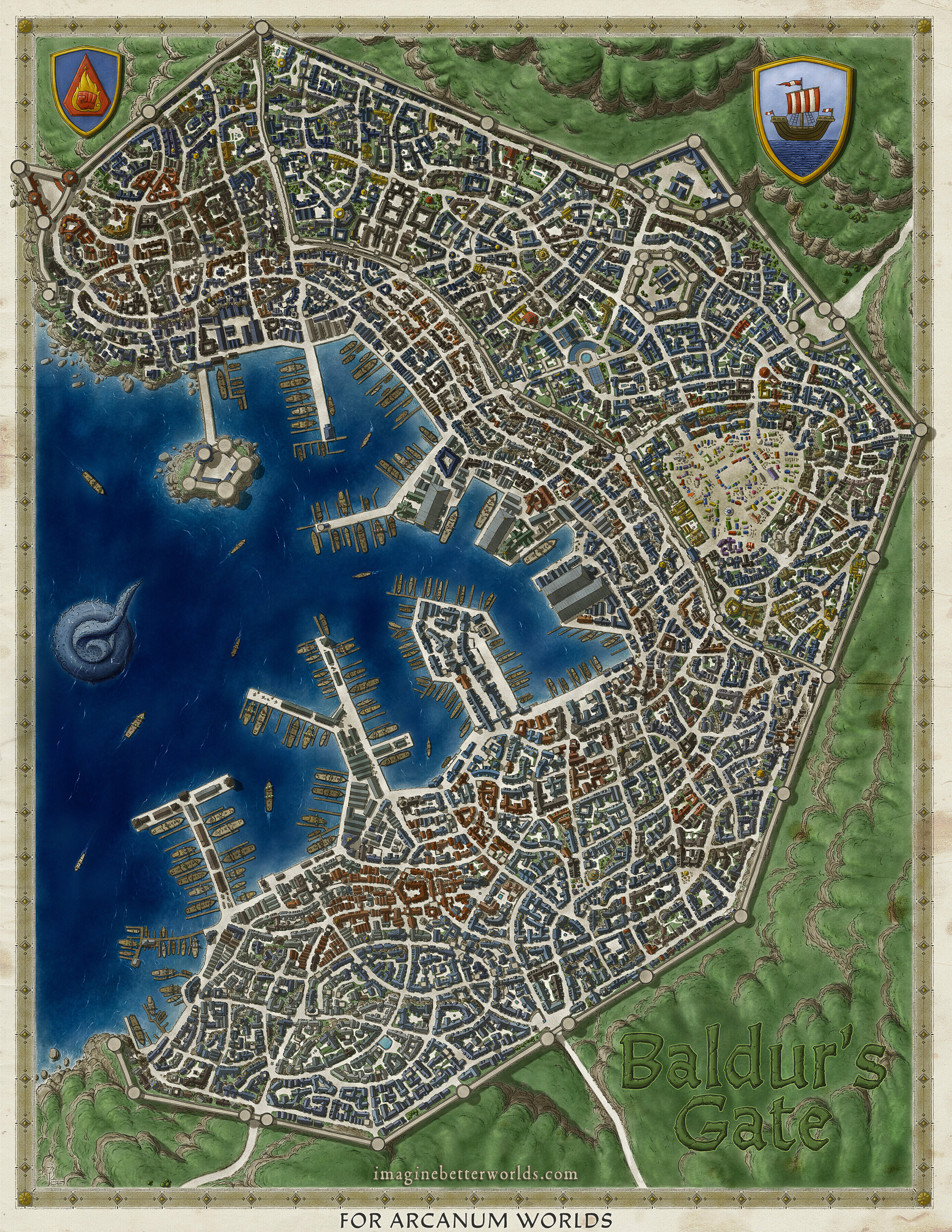 Baldur\'s Gate Map John Stevenson   Baldur's Gate city map