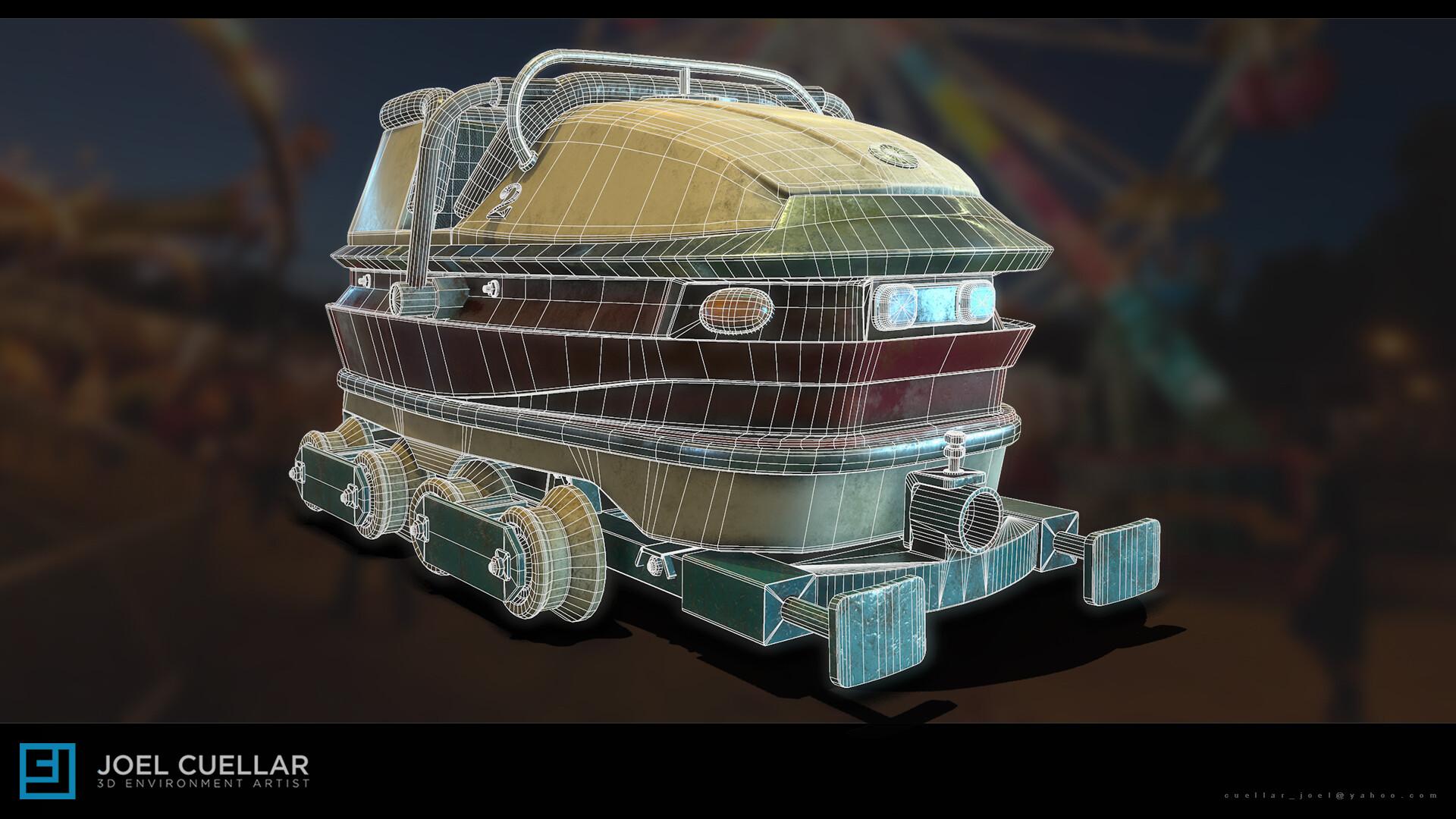 ArtStation - 3D Roller Coaster Cart, Joel Cuellar