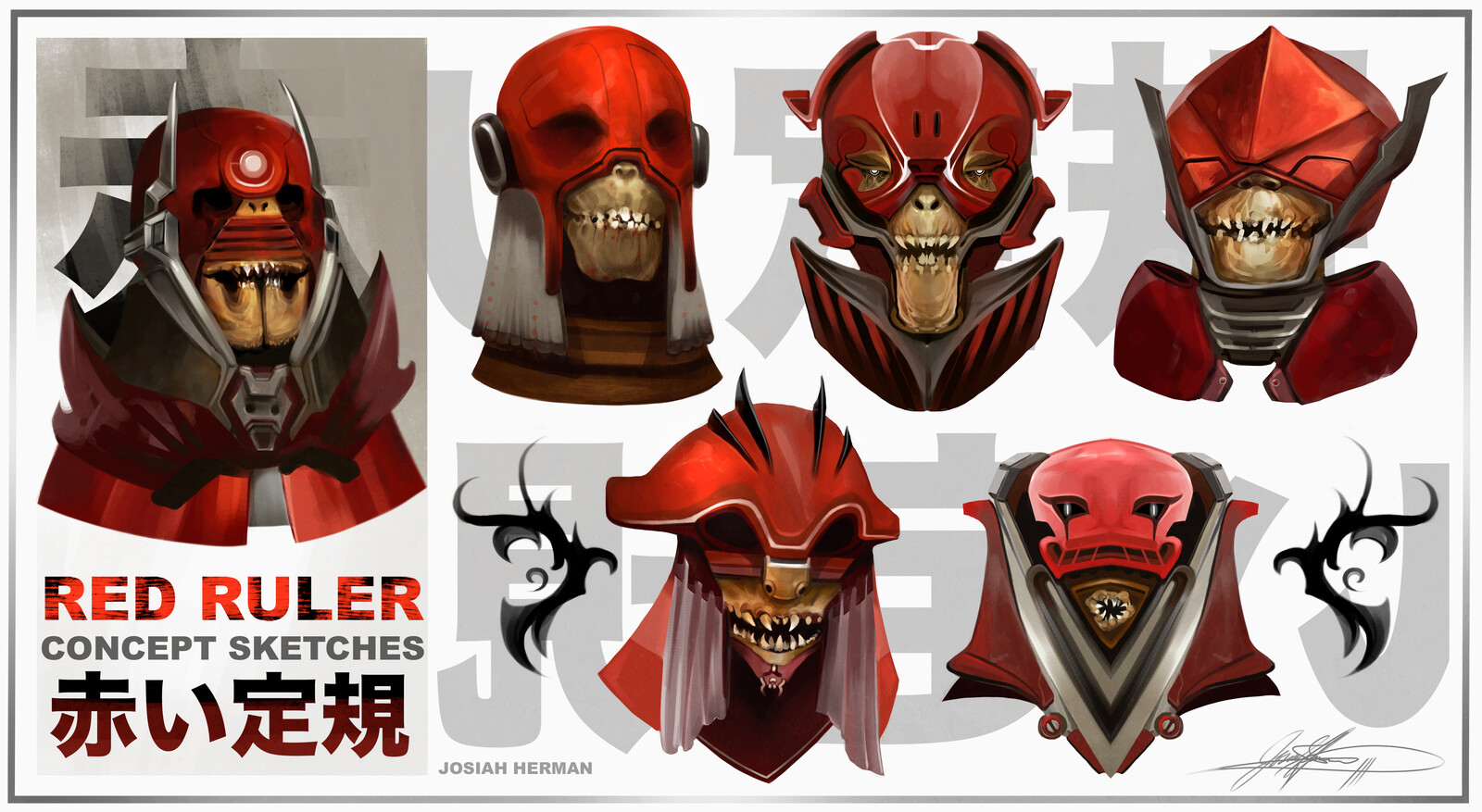 Red Ruler - Concept Art Sketches
