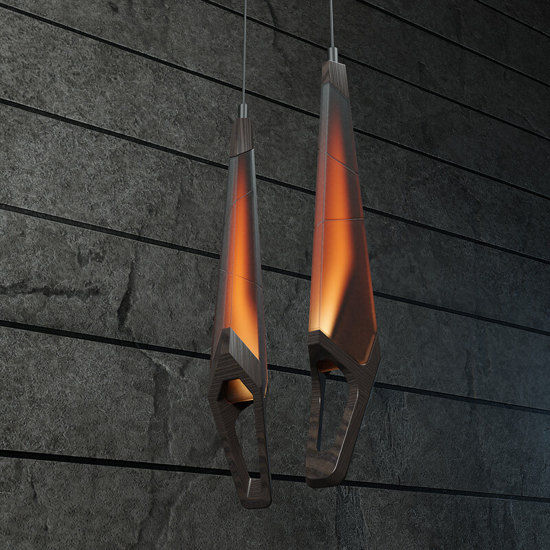 Fiery Pendant Light