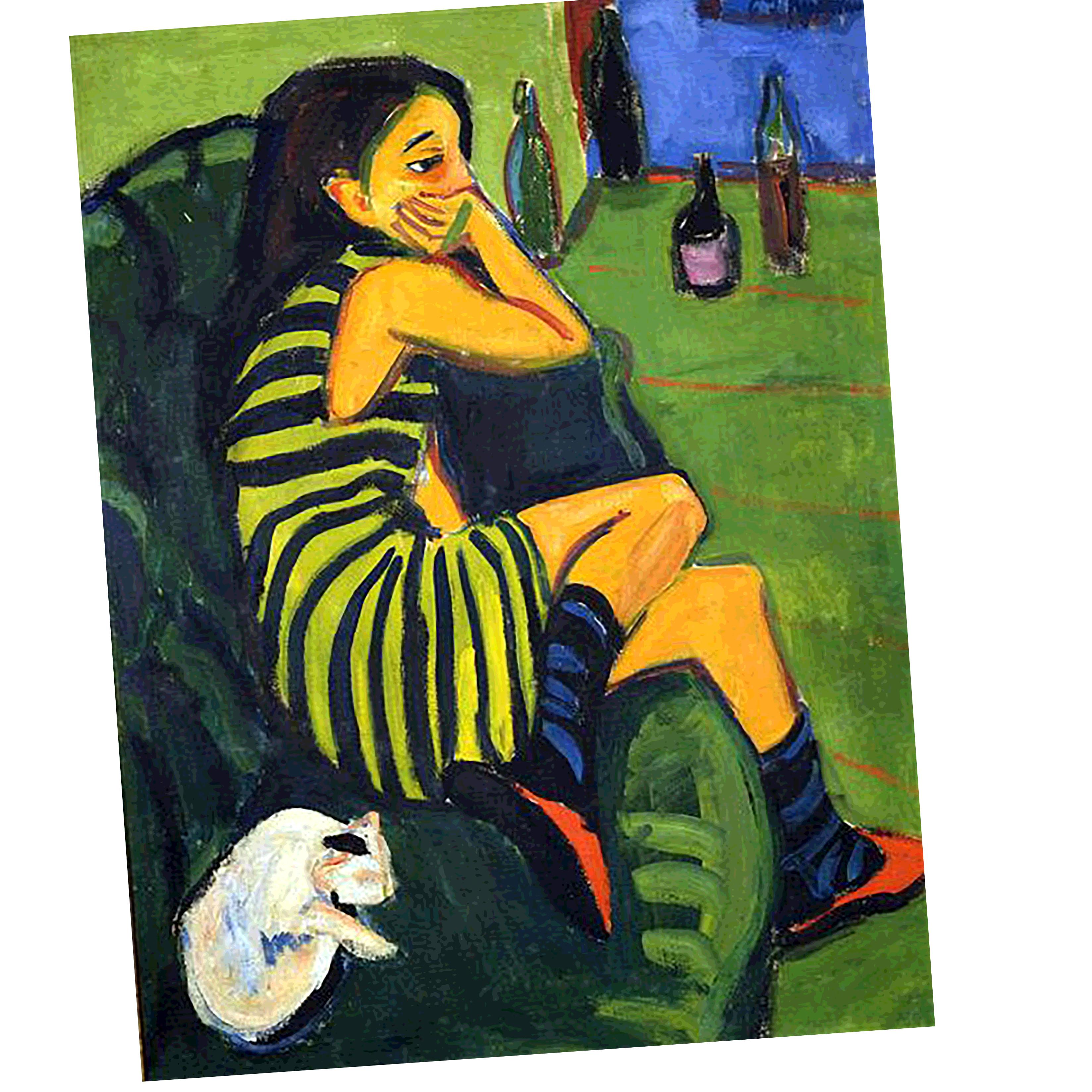 Kirchner - Female Artist (1910) - REF