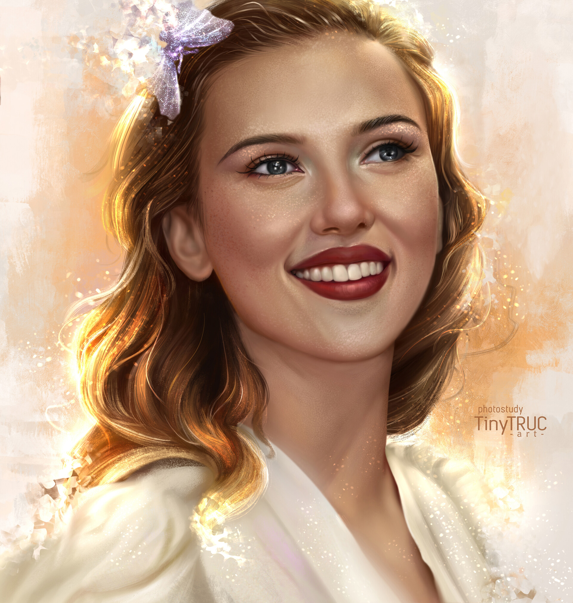 Artstation Scarlett Johansson Portrait Tiny Truc